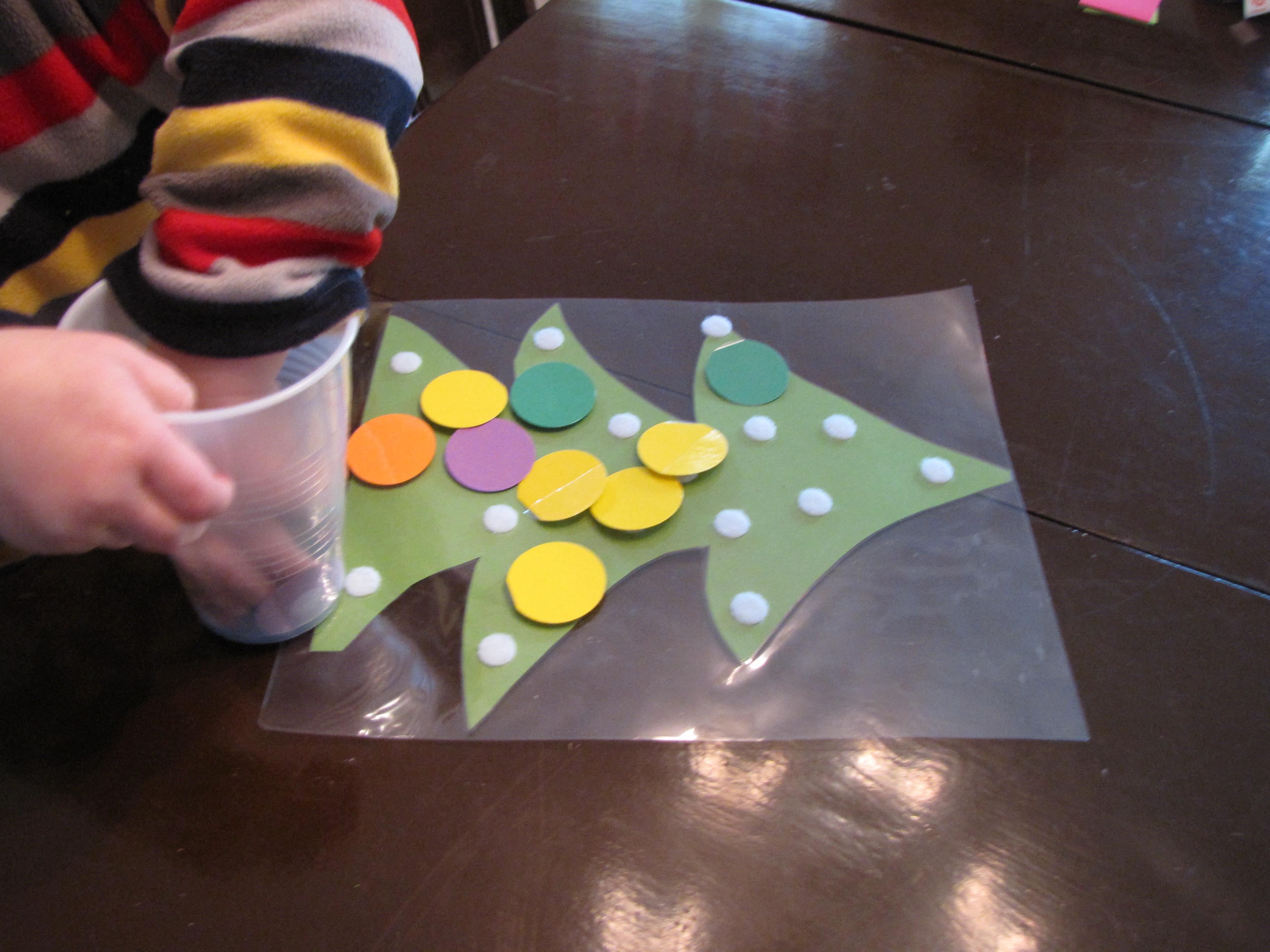 Velcro-dot Christmas Trees